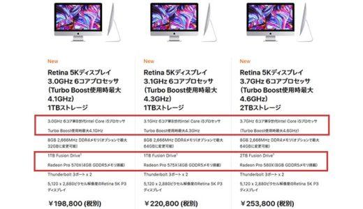 MACとWindowsの性能比較コスパ!最新i Mac VS 自作PC2019年版