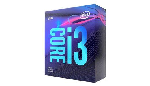 Intel Corei 3 9100Fの性能、ベンチマーク